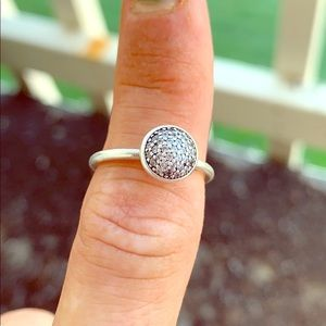 Discontinued Pandora sterling silver drop Ring